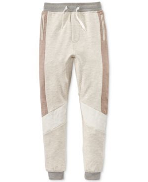 Sean John Boys' Sunny Joggers (721224656117) Give his sporty look a bit of neutral colorblocking with these Sunny joggers from Sean John.
