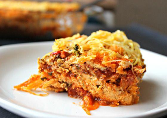 Lasagne à la courge spaghetti et fromage de cajou