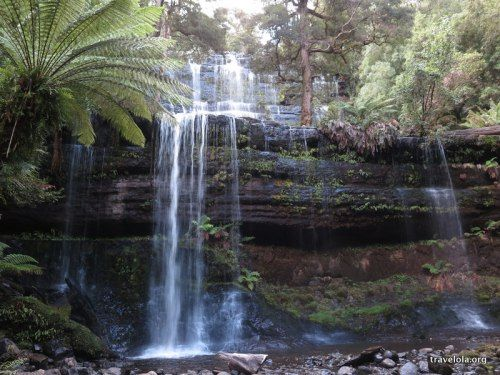 Russell Falls in Mt Field National Park, Tasmania, Australia.  #travel #tasmania #nature   Find more content and associated blog posts at adventure travel blog www.travelola.org. Image © 2014 Finola Wennekes.