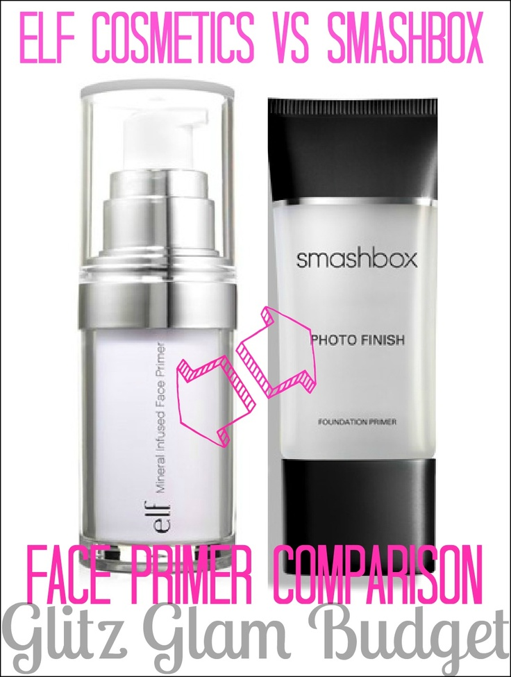 Glitz Glam Budget: e.l.f. Studio Mineral Infused Face Primer VS Smashbox Photo Finish Foundation Primer