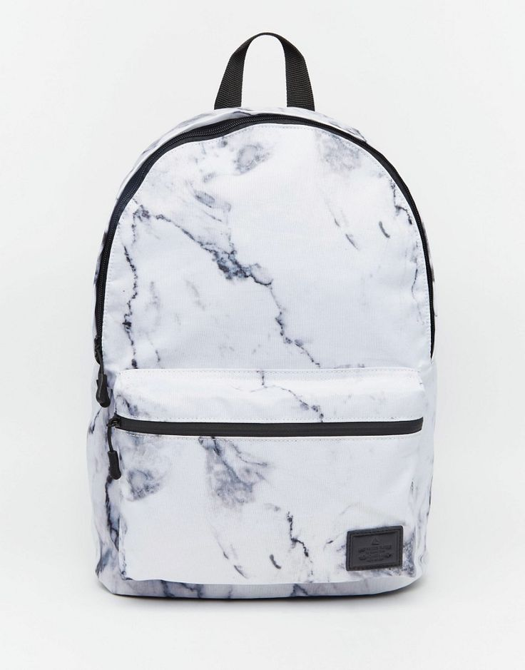 Image 1 of ASOS Backpack in Marble Print