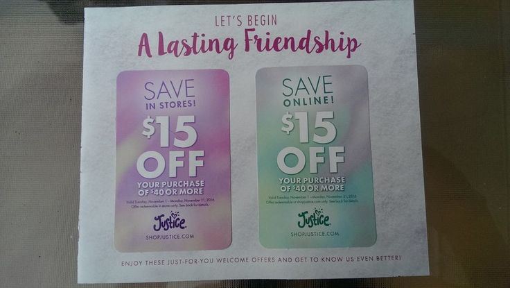 Justice Coupons $15 Online & $15 Store Coupon Valid Till Nov 21, $30 Savings | Gift Cards & Coupons, Coupons | eBay!
