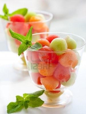 Fruit salad in individual glasses :)
