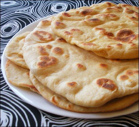 Naan. (Turned out really good. Subbed the yogurt for Tofutti better than Sour Cream, maybe try a yogurt alternative next time. LA)