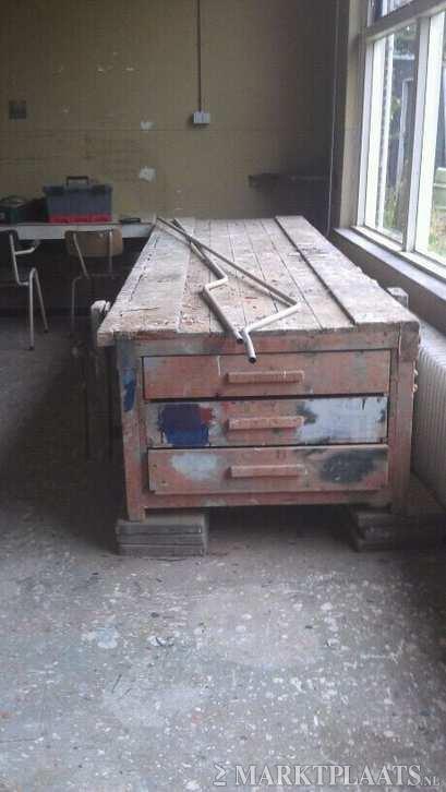 Hobby timmer werkbank doe het zelf en verbouw werkbanken workshop - Concrete effect tafel ...
