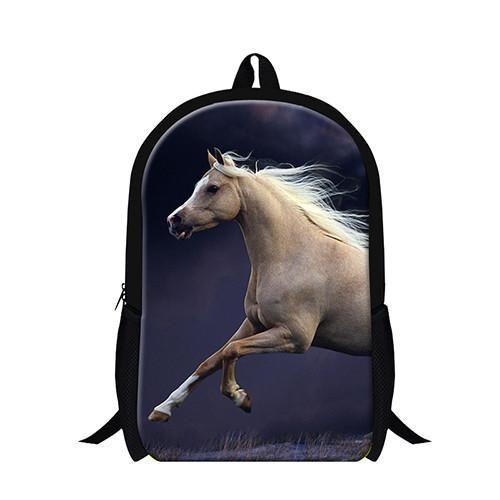 Personalized animal horse backpacks for children,teenager boys cool school bookbag,fashion lightweight back pack girls bagpack