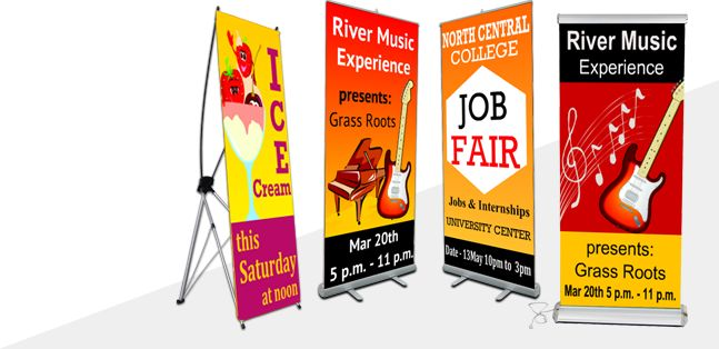 Banner Stands :  A Great Grommet Alternative Buy Online to Promote a Company's Products or Services with Fast Shipping at Lowest Price.