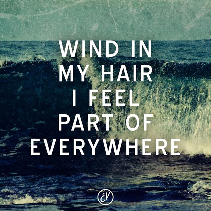 Wind In My Hair I Feel Part Of Everywhere Captured In
