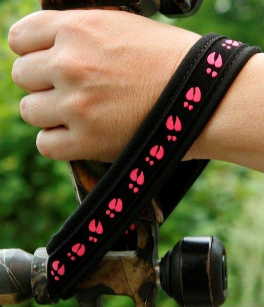 Pink Deer Track wrist sling
