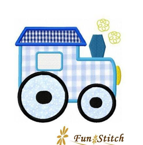 train applique machine embroidery design by FunStitch on Etsy, $2.00
