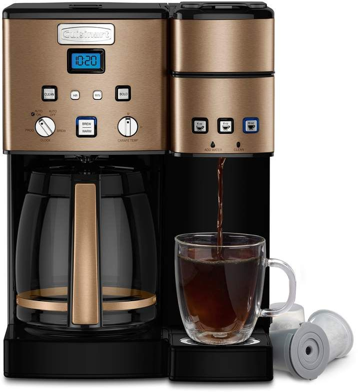 Cuisinart Coffee Center 12 Cup Coffeemaker And Single Serve Brewer Stainless Steel Coffee Maker Single Coffee Maker Coffee Center