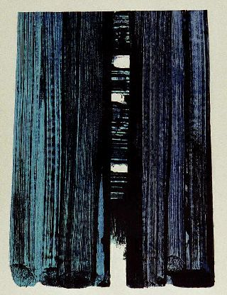 Pierre Soulages blue painting