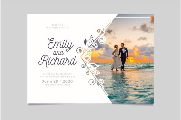 Discover Thousands Of Copyright Free Vectors Graphic Resources For Personal A Wedding Invitation Card Design Wedding Album Layout Wedding Invitation Templates