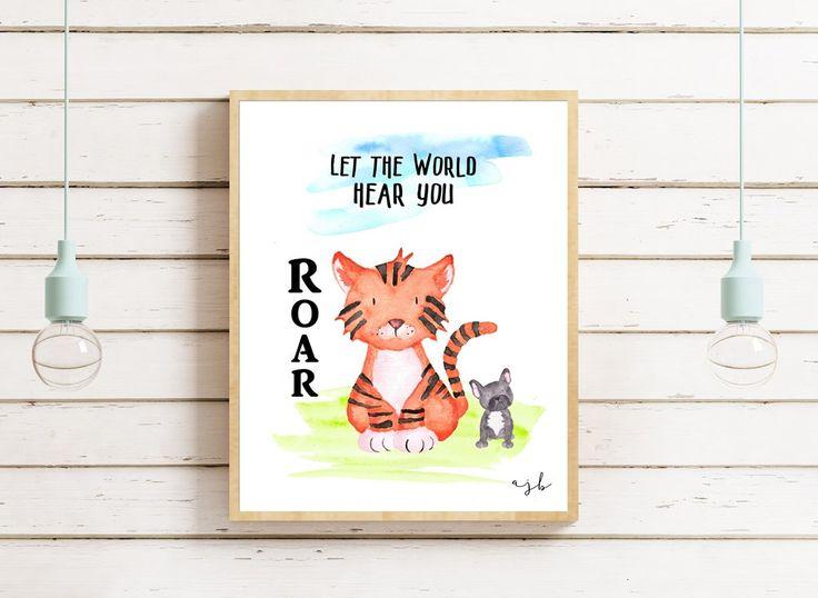 Let The World Hear You Roar - Instant Download - Contemporary Art - Kids Art - Home Decor - Wall Art - Modern - Minimal - Nursery by StudioTwoNine on Etsy