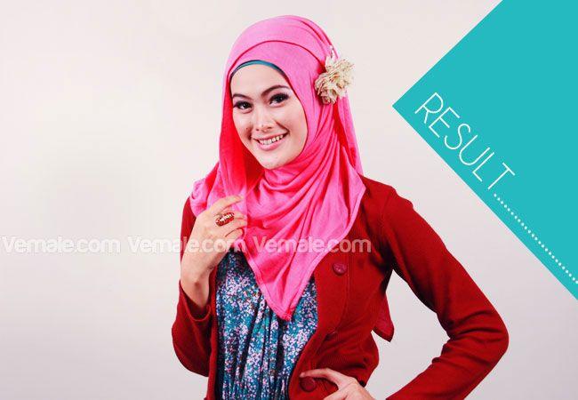 Fashion: Tutorial Praktis Tampil Modis Dan Feminin Dengan Pashmina Kaos - Langkah 7 | Vemale.com