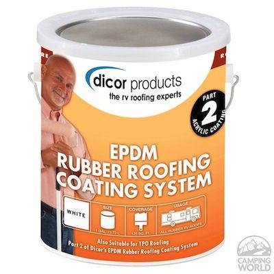 RV rubber roof repair