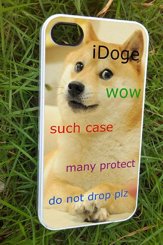 iDoge Shibe Doge iPhone 4/4s/5 Case Samsung Galaxy by bolukukus, $15.50 www.iconwallstickers.co.uk