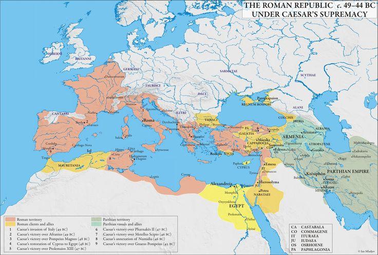 (49-44 BCE) The Roman Republic during the Dictatorship of ...