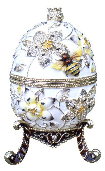 Cristiani Limited Edition Large Faberge Style Music Egg (WHITE)