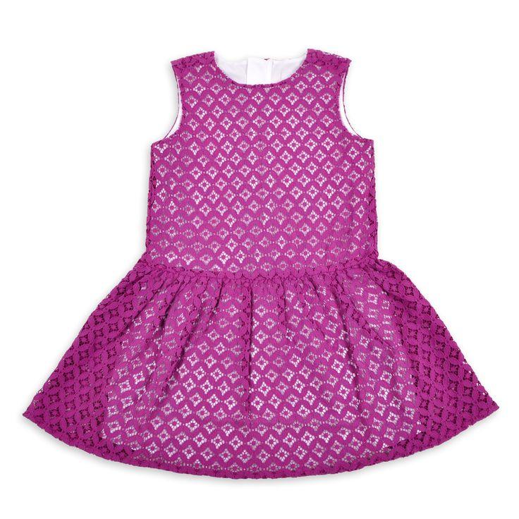 Vestido EPK para niña de ojete morado.