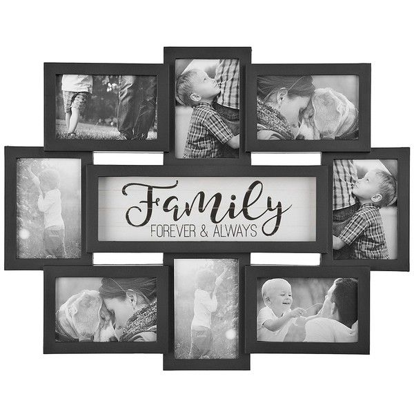 Family 8 Opening Dimensional Collage Frame 15 Liked On Polyvore Featuring Home Home De Family Picture Frame Collage Collage Frames Collage Picture Frames