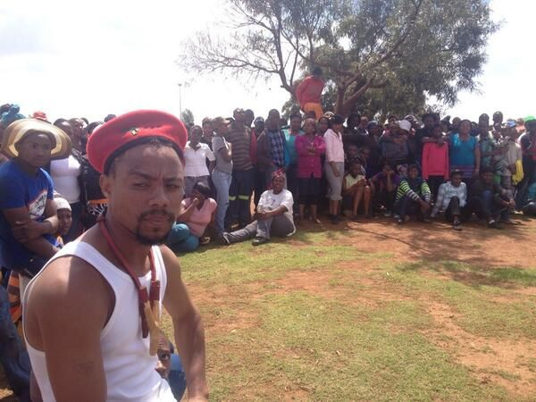 #Bekkersdal protests | Residents waiting for EFF leaders to arrive to address them. Photo: EWN Reporter ‏@ewnreporter