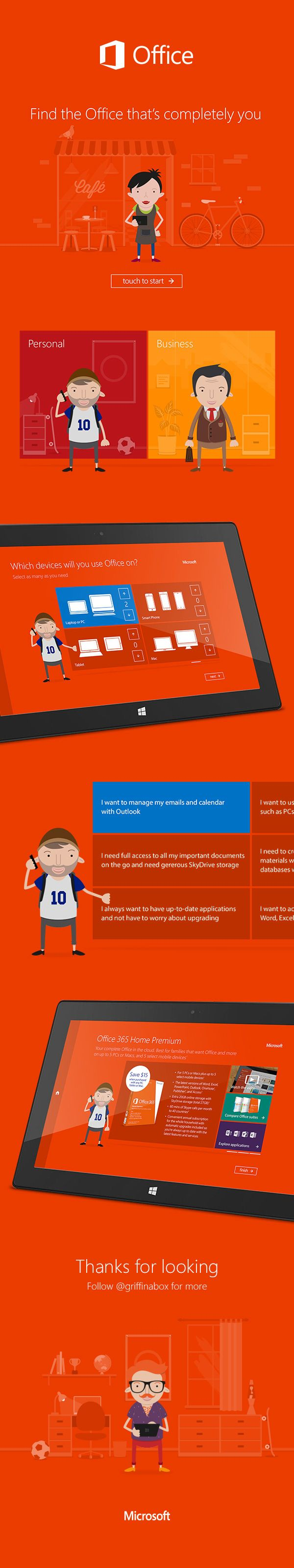 Microsoft Office - Completely You by James Griffiths, via Behance