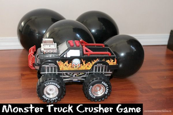 This monster truck game is easy to set up and you likely already have all the supplies you'll need. Simply set out some balloons and let the crushing begin!