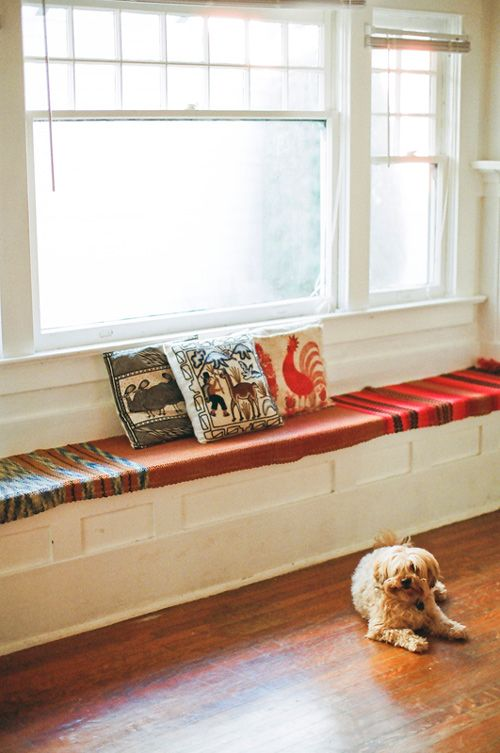 ,: Dining Rooms Window, Front Rooms, Beautiful Interiors, Design Sponge, Extra Spaces, Dogs Inside, Window Seats, Designspong Sneak, Features Dogs