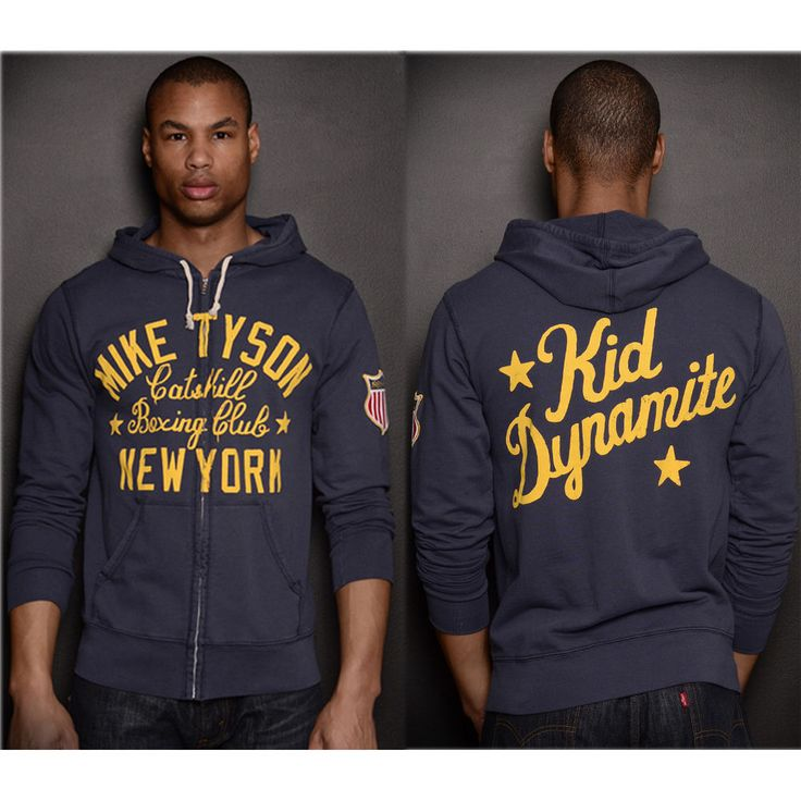 Roots of Fight Tyson Kid Dynamite FZ Terry Zip-Up Hoodie - Navy Blue #RootsofFight #Hoodie