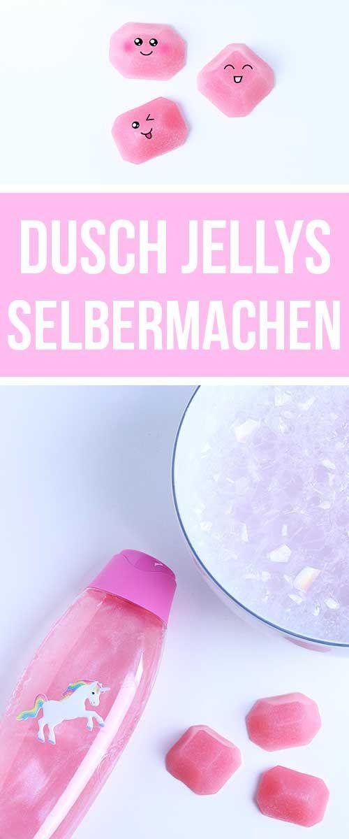 Dusch Jelly selber machen - DIY Geschenke, Geschenkidee für Freundin   Vegane Dusch Jellys - Vegan Shower Jelly