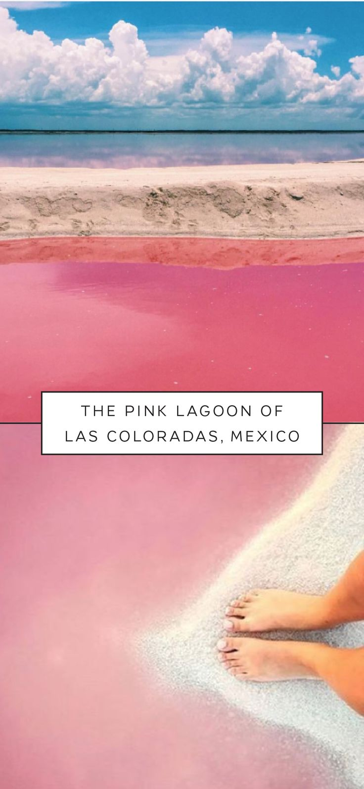 There's no need for a filter when the view is this stunning. Add The Pink Lagoon of Las Coloradas, Mexico to your list of must-see travel destinations. The waters of this incredible natural wonder are dyed a gorgeous shade of peachy pink thanks to tiny microorganisms that live in the lagoon. Give your vacation photos a little more glamour with this one-of-a-kind trip.