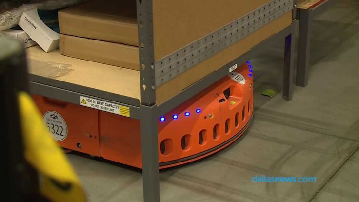 Video taken during a tour of Amazon's Fulfillment Center in Coppell. The items are brought to employees via robots, which are then prepared for shipment to c...