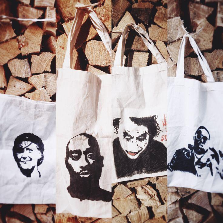 #etsy #bag #bastisbeutel #stars #movie #rap #biggie #2Pac #heathledger