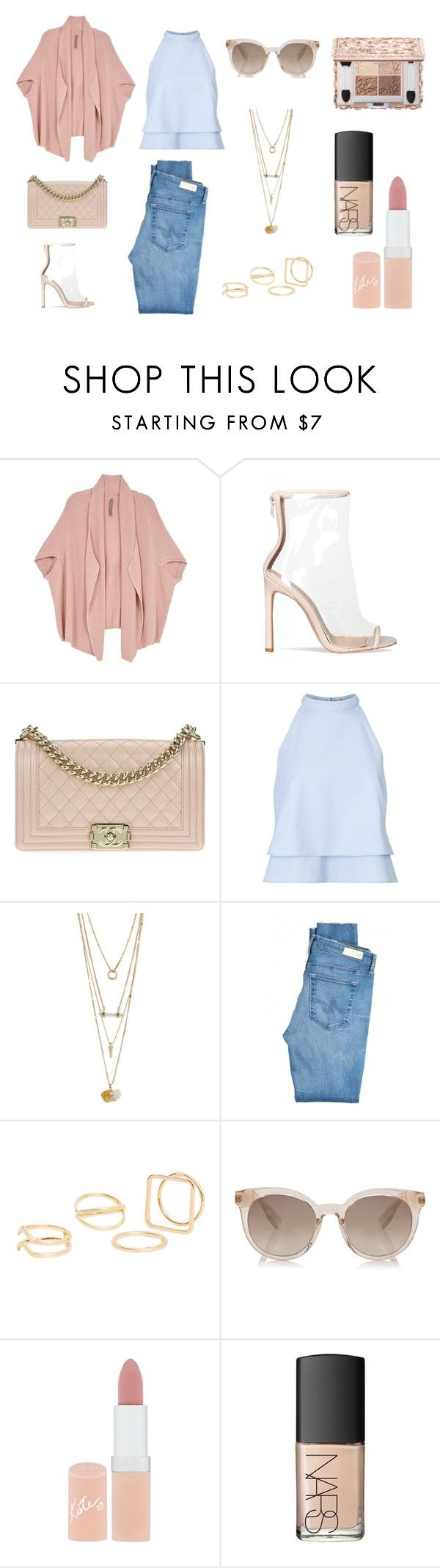"""""""Woman's style"""" by tatyana-yurasova on Polyvore featuring мода, Melissa McCarthy Seven7, Chanel, Miss Selfridge, AG Adriano Goldschmied, MANGO, Rimmel, NARS Cosmetics и plus size clothing"""