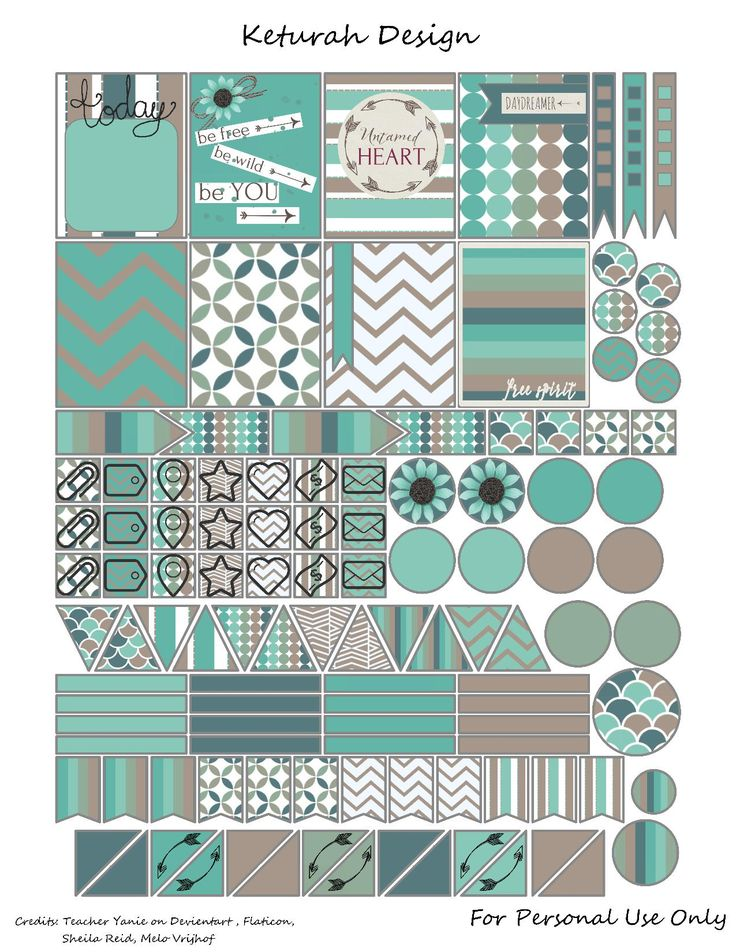 It's Friday again and that means it's time for another Planner freebie! This week's planner freebie is all about the blue and teal. I was able to combine some kits I've fo…