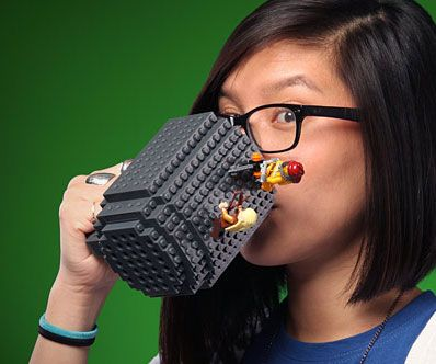 With the LEGO brick mug at your desk, you'll not only be awake and alert thanks to all the coffee it can hold but also distracted because of its interactive and insanely fun LEGO exterior. It acts as a blank canvas you make come alive with a few LEGO bricks.