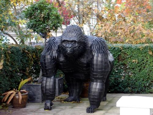 Welded Steel Gorilla by Andrew McDowall