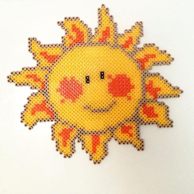 Sun hama beads by lovebuz_pyssel