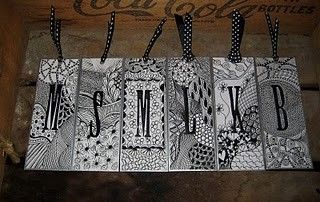Love these Zentangle bookmarks! I am just starting out with zentangling, but when I get better I am so making some of these for gifts.