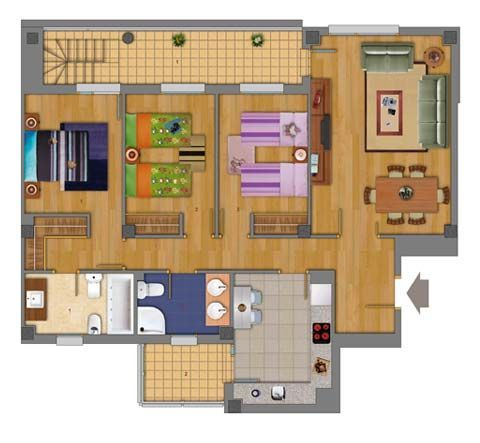 M s de 25 ideas incre bles sobre planos de casas - Tipos de casas prefabricadas ...