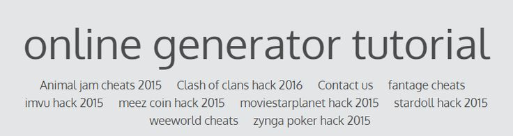 online generator tutorial