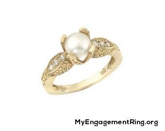 fine pearl engagement ring ♥- My Engagement Ring