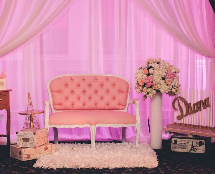 Photo opps at a Paris Sweet 16 birthday party! See more party planning ideas at CatchMyParty.com!