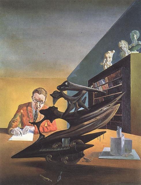 Salvador Dali - Portrait of Mr. Emilio Terry (unfinished) 1930