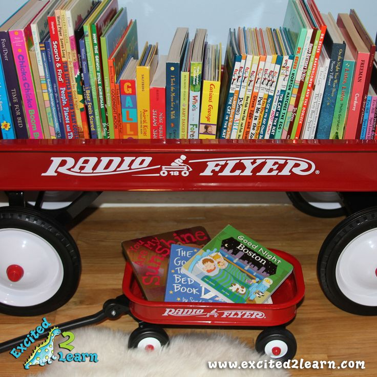 wagon filled with books --Excited2Learn.com