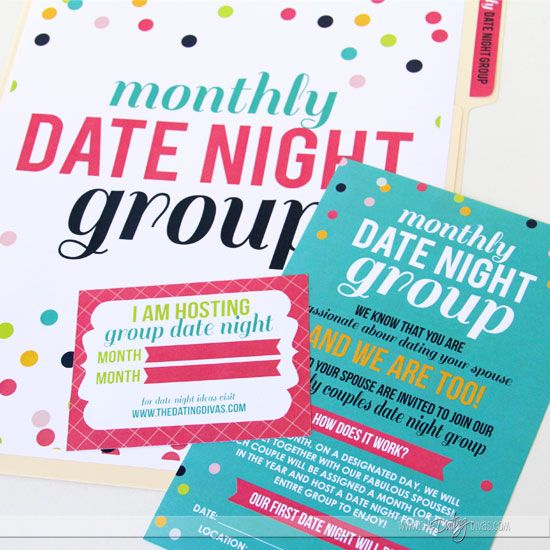 Making date night a priority this year - set up a monthly group to make it even easier.