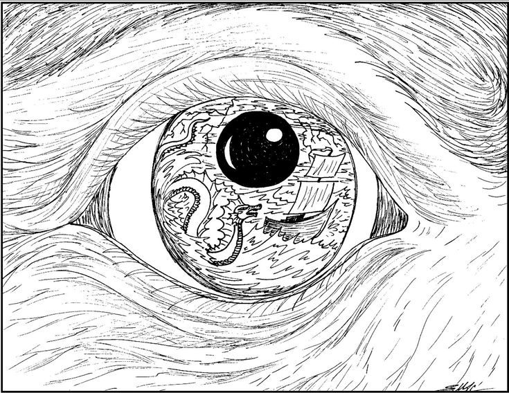 Art with edge coloring pages ~ S.Mac's Surrealistic Coloring Page, Old Mariner's Eye ...