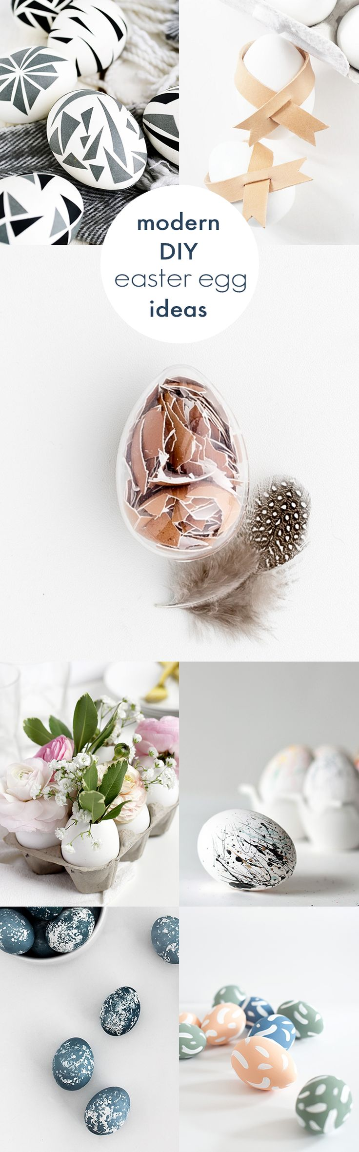 You'll love this roundup of beautiful and simple modern DIY Easter egg ideas, all of which are easy to recreate at home!