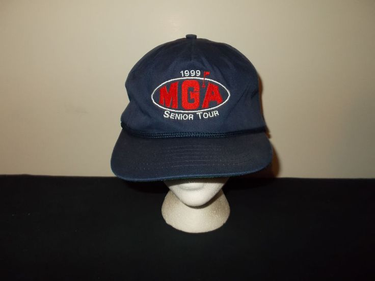 VTG-1999 MGA Minnesota Golf Senior Tour rope strapback hat sku3 #truckerhat #80sfashion